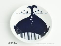 有田焼のKIHARA(キハラ)の豆皿コモンキッズくじら