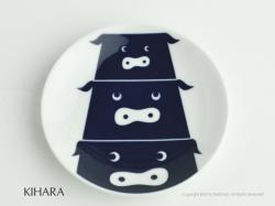 有田焼のKIHARA(キハラ)の豆皿コモンキッズぶた